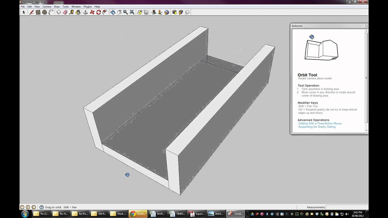 how to add a box of certain dimensions in sketchup