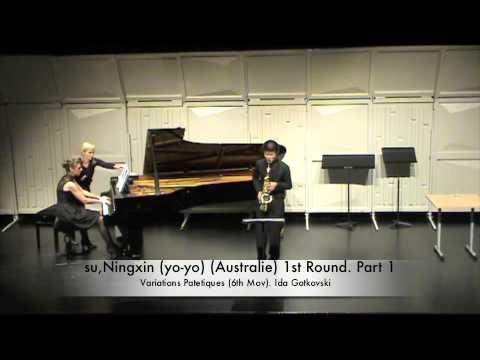 su,Ningxin (yo-yo) (Australie) 1st Round. Part 1