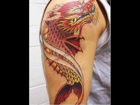 Hình xăm cá chép hóa rồng đẹp / koi dragon ở myvienhoaly tattoo xăm hình nghệ thuật phan thiết