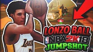USING LONZO BALL'S NBA 2K18 JUMPSHOT! LONZO'S UGLY JUMPER CONFIRMED IN NBA 2K18! NBA 2K18