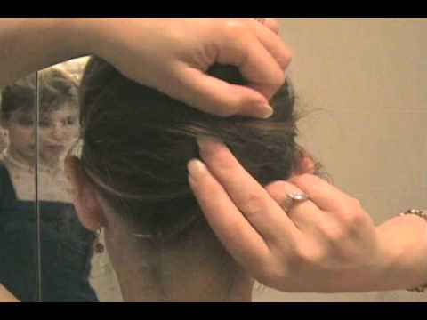 Easy French Twist Updo Bun Chignon Hairstyle on Your Own Long Hair Tutorial