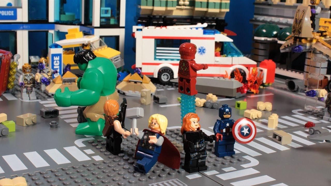 Lego Avengers Youtube Building Lego City Train Station