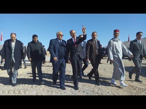 عامل إقليم ميدلت بالنيابة يتفقد مشروع بناء ثانوية لالة سلمى بالريش