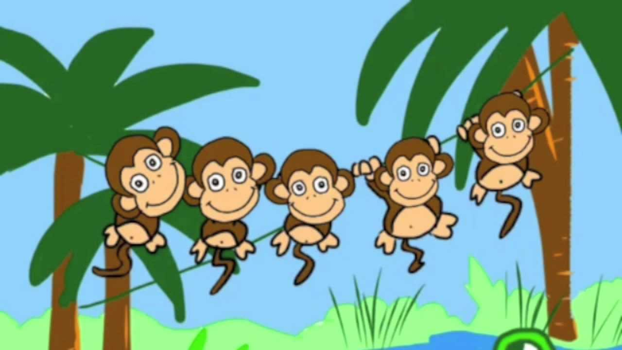 five little monkeys swinging in a tree youtube hanging monkey clipart free hanging monkey clipart free