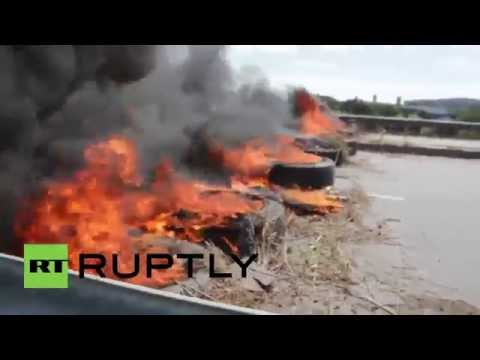 Brazil: Protesters burn tyres in Fortaleza as BRICS summit begins