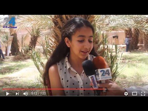 """الطفلة التي ابهرت لجنة التحكيم في ملتقى فن الملحون بالرشيدية """"فيديو"""""""