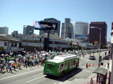 Protest in Los Angeles 2009 in July