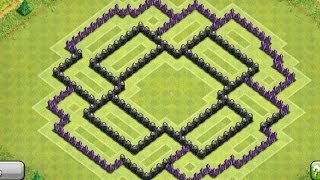 Clash Of Clans Best Townhall 8 Anti Hog Trophy/War Base