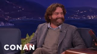 Zach Galifianakis' Question He Refused To Ask President Obama  - CONAN on TBS