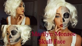 SMLx0 – Marilyn Monroe Skull Face ♥ Halloween Tutorial