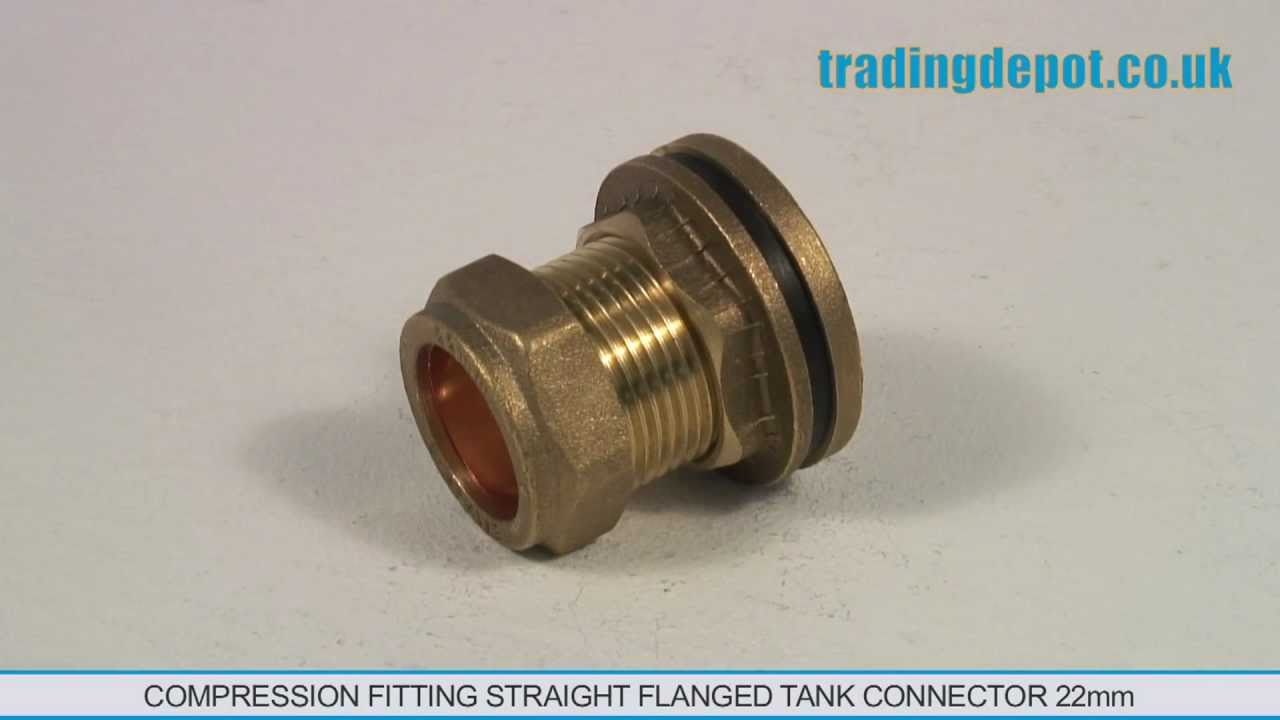 Trading depot compression fitting straight flanged tank