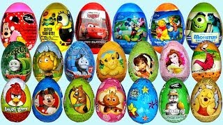26 Surprise eggs, Маша и Медведь Kinder Surprise Disney Pixar Cars 2 Mickey Mouse