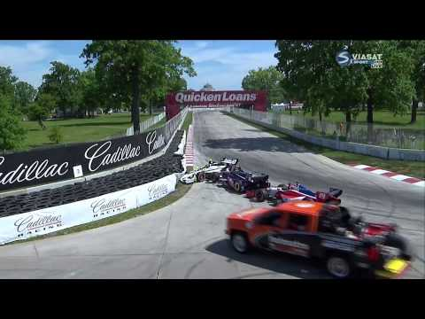 Start Crash @ 2014 Indy Car Detroit Race 2