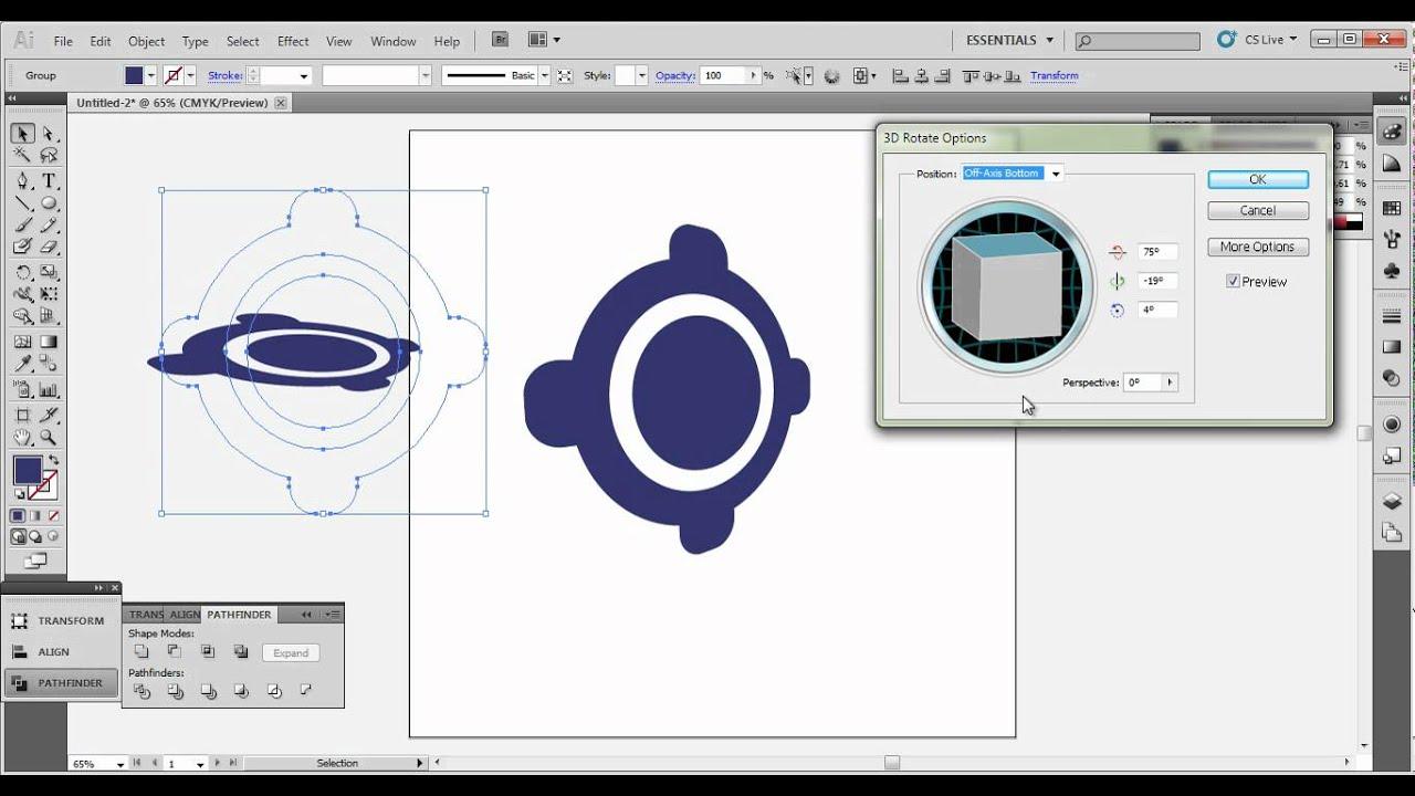 GPS app logo tutorial -illustrator cs5- - YouTube