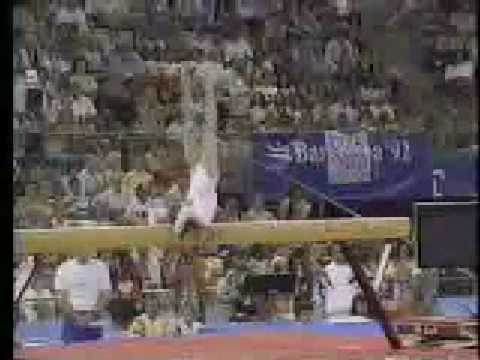 1992 Barcelona Olympic Beam Event Finals EF 8 routines Gymnastics Part 2