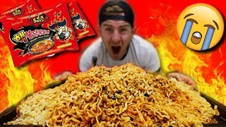 SPICY KOREAN FIRE NOODLE MOUNTAIN! (SPICE LEVEL 8,000+)