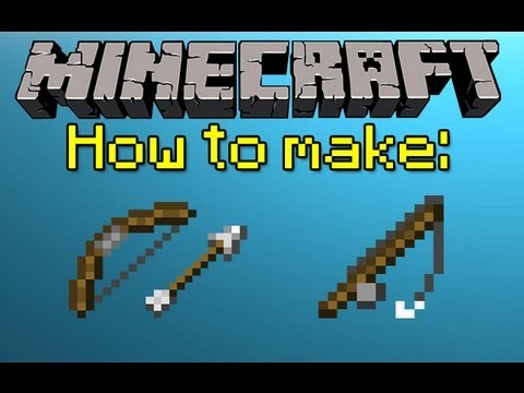 Mh minecraft help how to make a bow arrows and for How to fish in minecraft pe