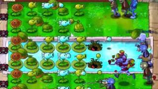 Plantas Contra Zombis Modo Supervivencia Piscina