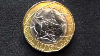 MONETA EURO DA 1000 LIRE DEL 1997