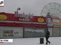 Late Winter Storm Blankets Coney Island