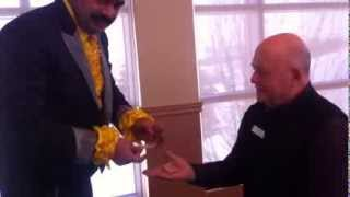 Mississauga Magician Raj with Councillor Ron Starr