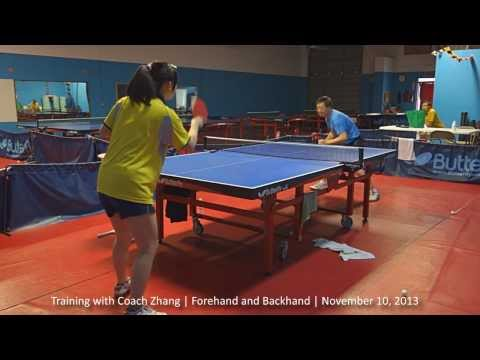 Training with Coach Zhang: Forehand and Backhand