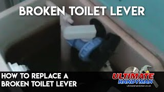 replace a broken toilet lever