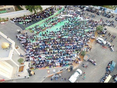 صلاة عيد الفطر الموحدة في ساحة مسجد الروضة في جلجولية -