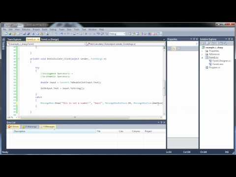 C#.Net Tutorial 3 - Buttons, Textboxes, and Arithmetic and Assignment Operators