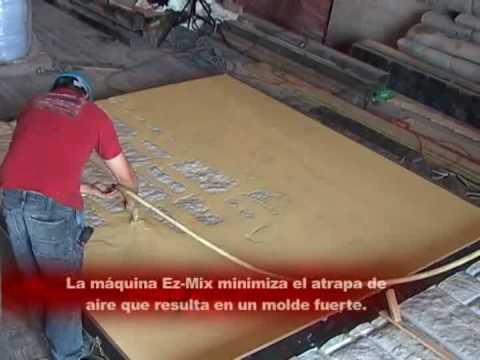 Como hacer molde de tapete con vytaflex youtube - Como mezclar cemento ...