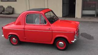 Newly restored Vespa 400 car goes for its first drive