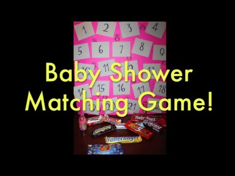 baby shower memory game youtube
