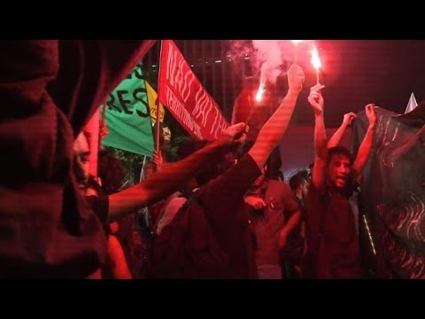 Protests, strikes hit Brazil 28 days from World Cup