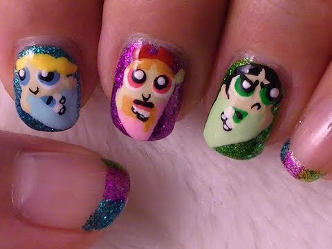 Powerpuff Girls Nail Art,