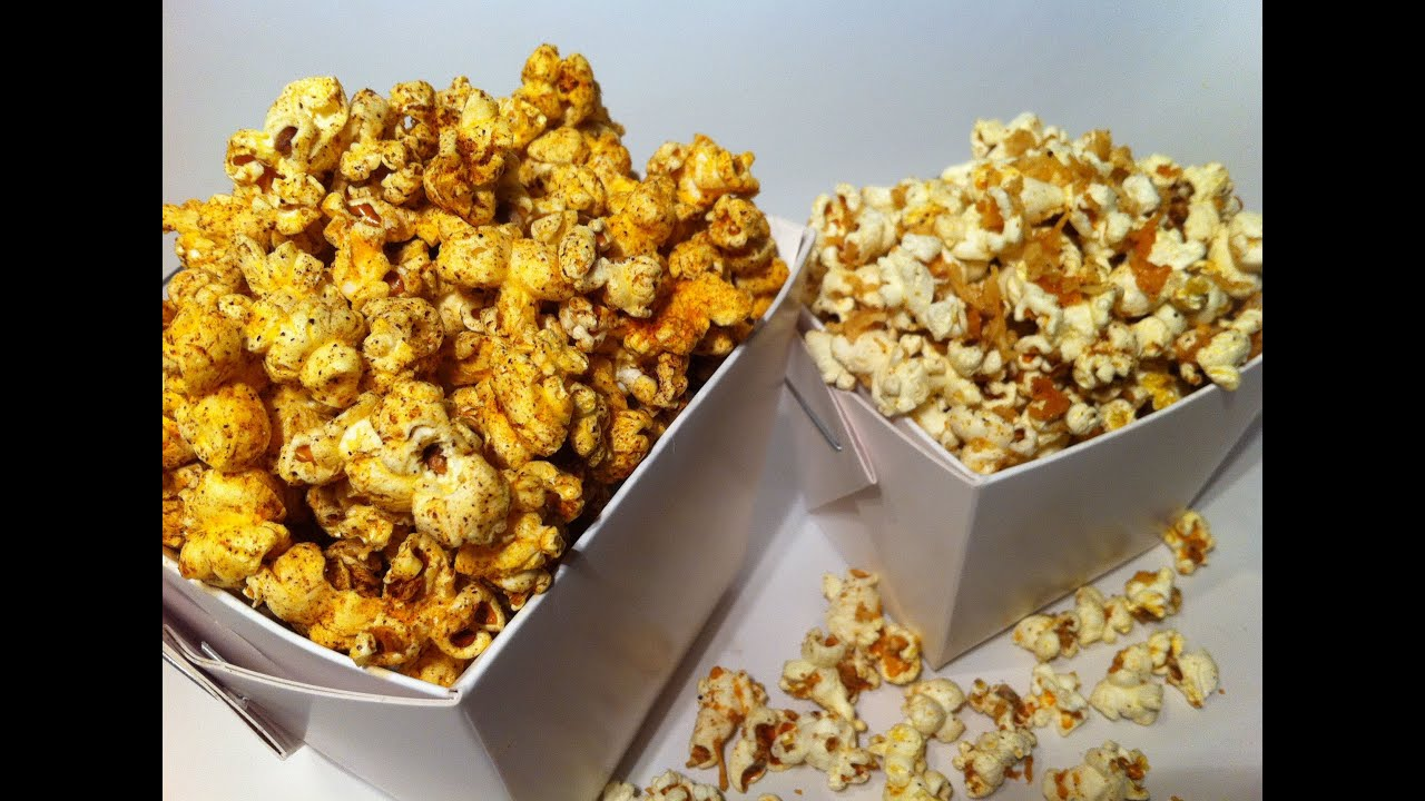 HOW TO MAKE SAVOURY POPCORN: Spicy & Cheesy! - YouTube