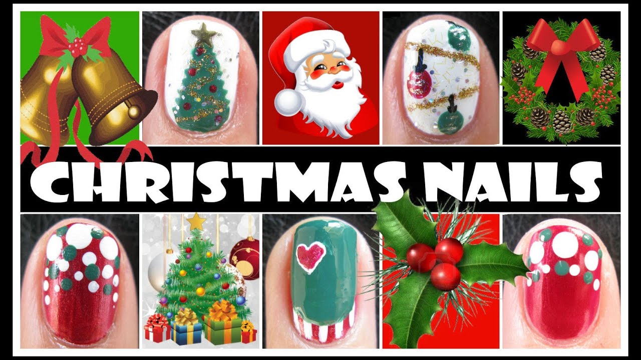 Christmas Design For Short Nails : Christmas nail designs xmas holiday art tutorials