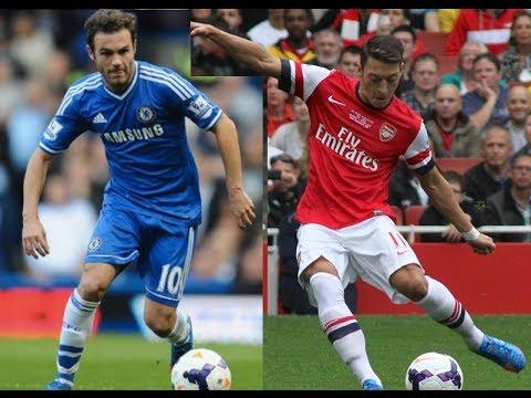 Mesut Özil vs Juan Mata - Skills, Passing & Goals HD (720p)