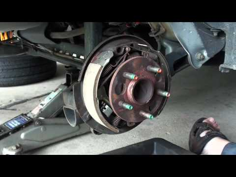 Replacing Drum Brake Shoes Part 2 Ericthecarguy Youtube