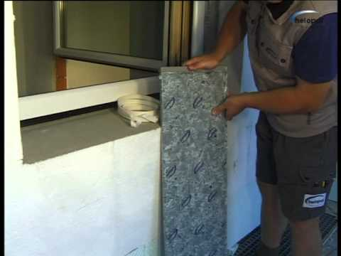 montagevideo helopal aussenfensterbank mit 2k montageschaum youtube. Black Bedroom Furniture Sets. Home Design Ideas