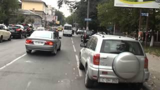 Microbuz infect și periculos pe ruta 110, Chișinău