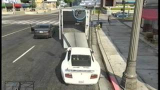 GTA 5 TOWING A BIG TRUCK WITH A CAR INSIDE