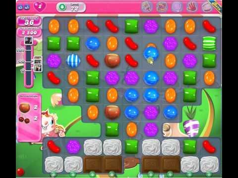 Candy Crush Level 72 - 2 Stars 119k score - YouTube