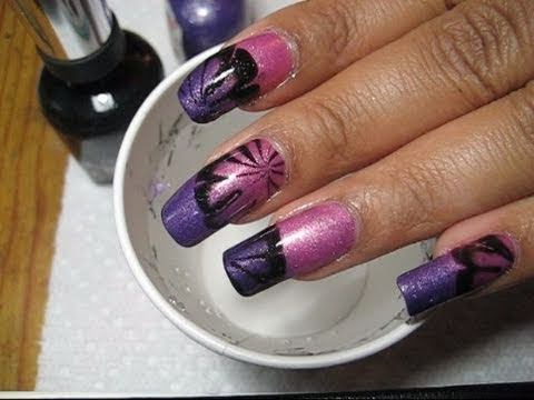 Purple & Pink Mood Polish Water Marble Nail Art Tutorial - YouTube, More pics in this post: http://mysimplelittlepleasures.blogspot.com/2010/05/notd-claires-calmwild-water-marble.html See this Mood Polish changing colors: htt...