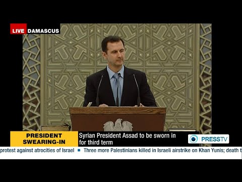 President Bashar al-Assad sworn in for a new term, addresses Syrians in milestone speech