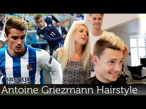 Antoine Griezmann hairstyle | Bleached hair | Best mens hairstyles Slikhaar TV
