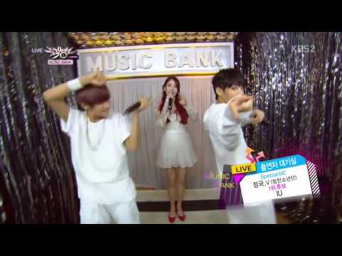 131018 MUSIC BANK | MC JUNGKOOK&V INTERVIEW IU BACK STAGE