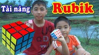 Tài năng xoay Rubik 12 tuổi, Kênh Em Bé✅