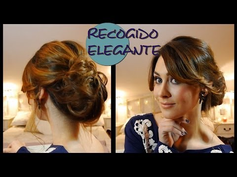 Recogido elegante de fiesta fácil. Elegant and easy updo for parties