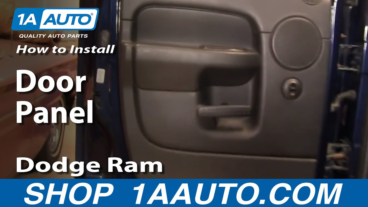 How To Install Replace Rear Door Panel Dodge Ram Quad Cab