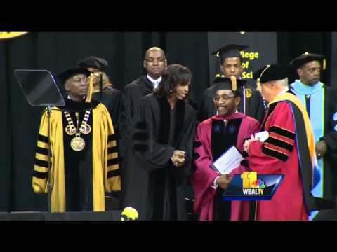 First lady speaks at Bowie State University commencement
